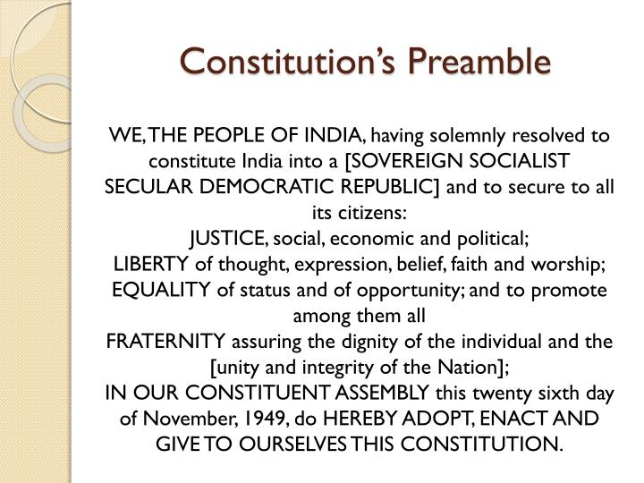 Constitution's Preamble