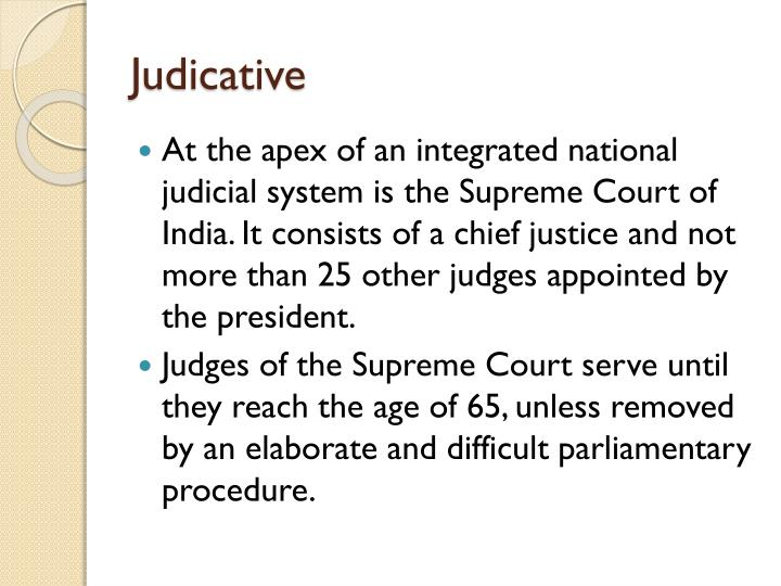Judicative