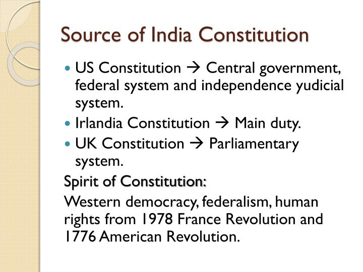 Source of India Constitution