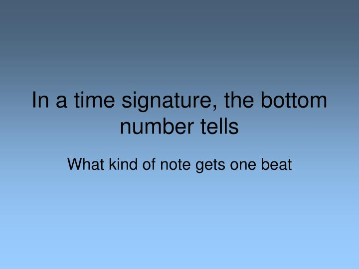time signature bottom number