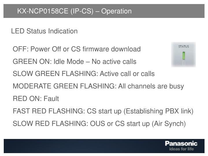 KX-NCP0158CE (IP-CS) – Operation