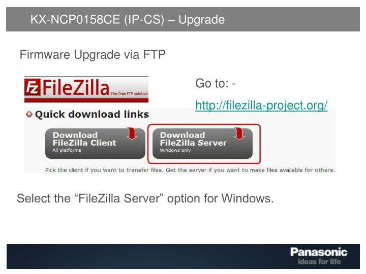 KX-NCP0158CE (IP-CS) – Upgrade