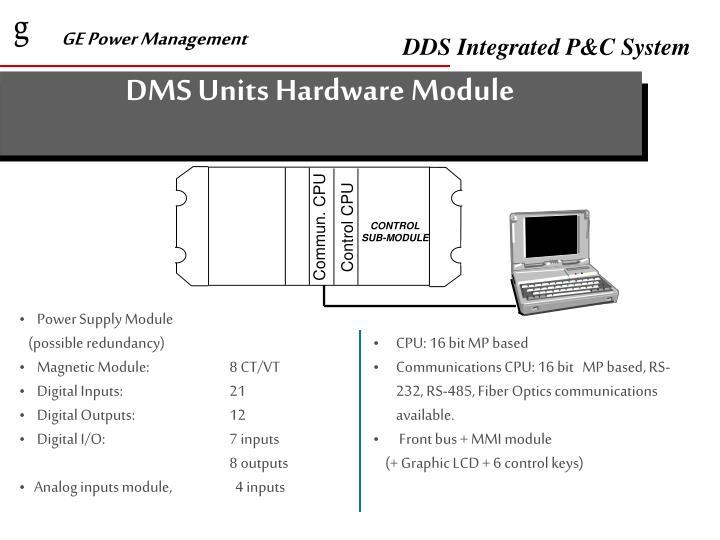 DMS Units Hardware Module
