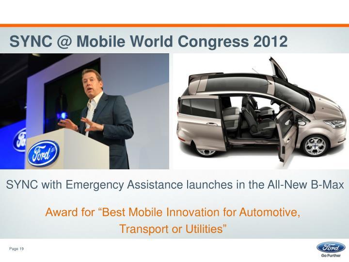 SYNC @ Mobile World Congress 2012