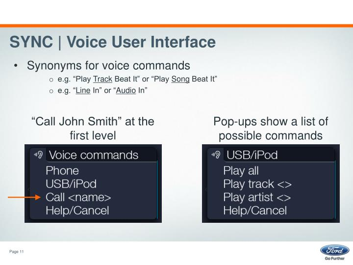 SYNC | Voice User Interface