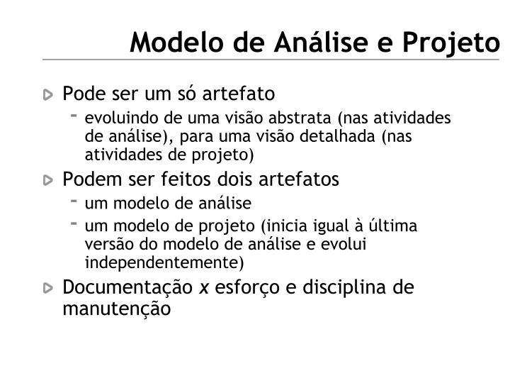 Modelo de Análise e Projeto