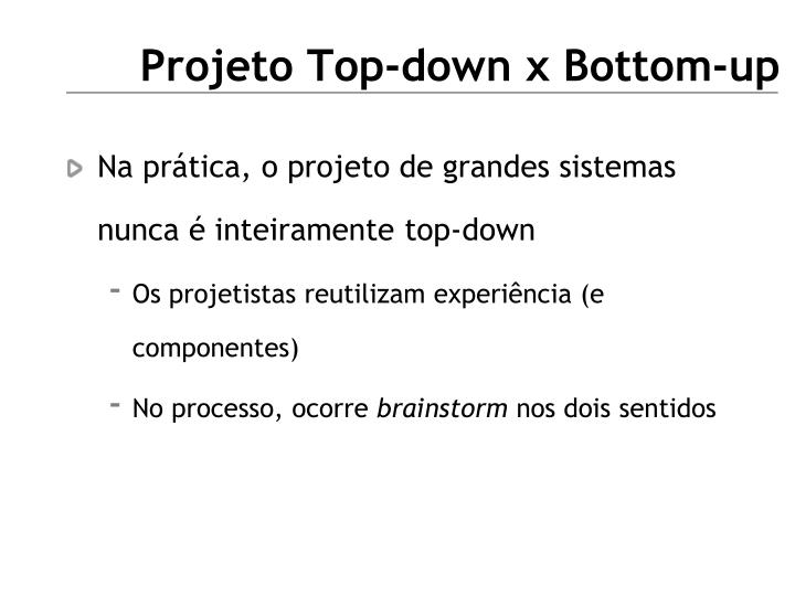 Projeto Top-down x Bottom-up