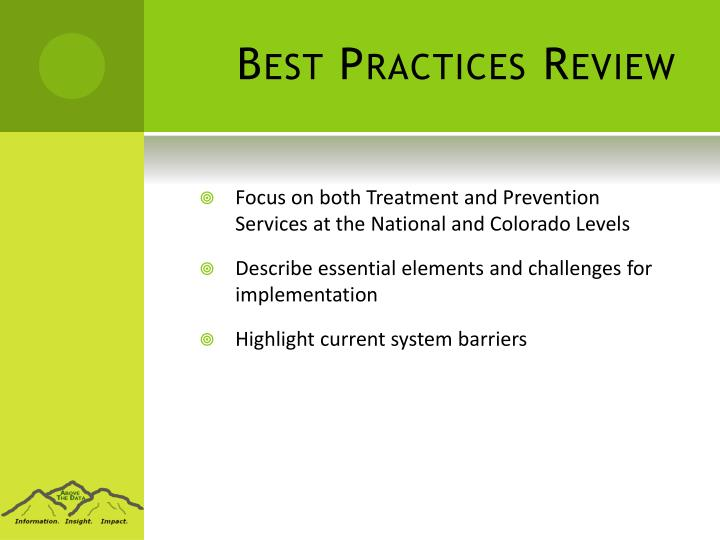 Best Practices Review