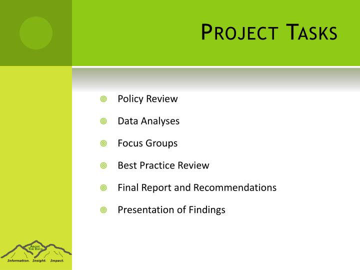 Project Tasks