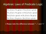 algebraic laws of predicate logic2