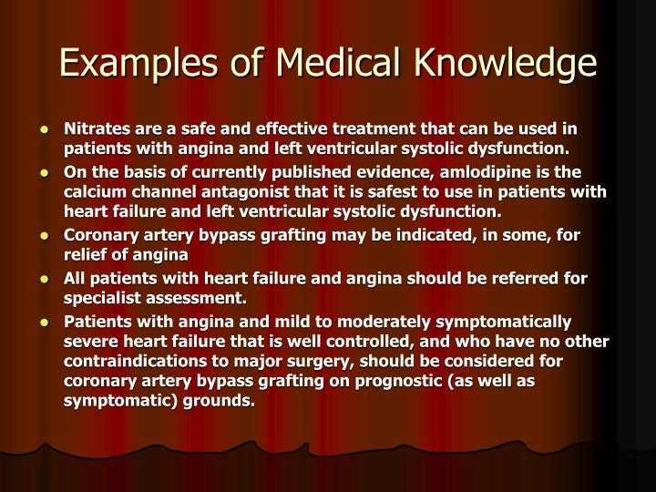 Examples of Medical Knowledge