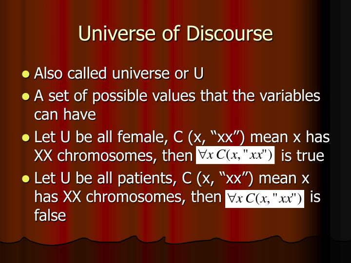 Universe of Discourse
