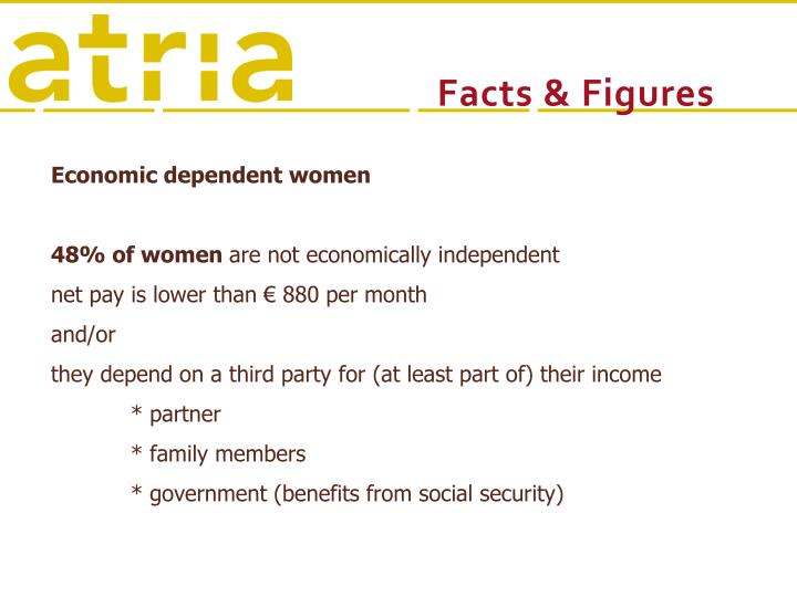 Economic dependent women