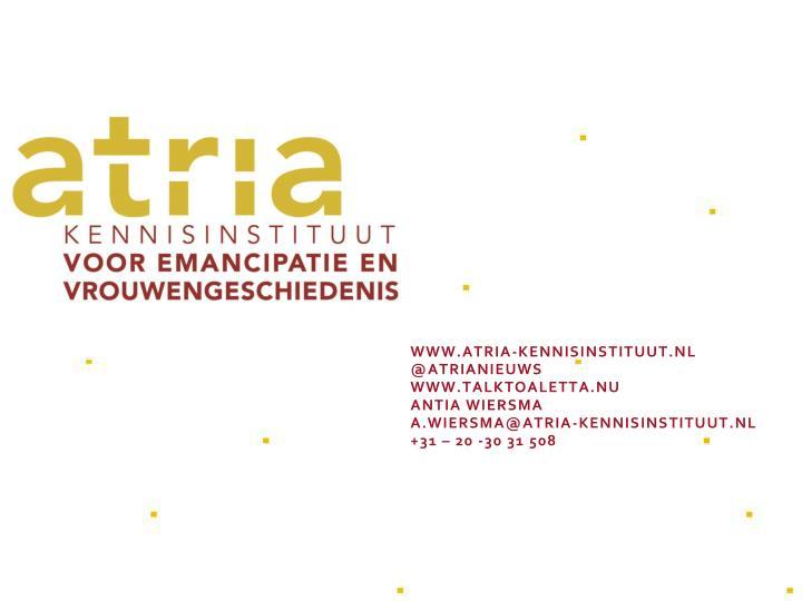 www.atria-kennisinstituut.nl