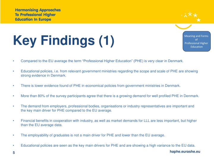 Key Findings (1)