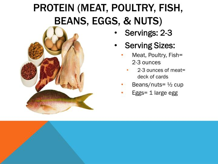 Protein (meat, poultry, fish,