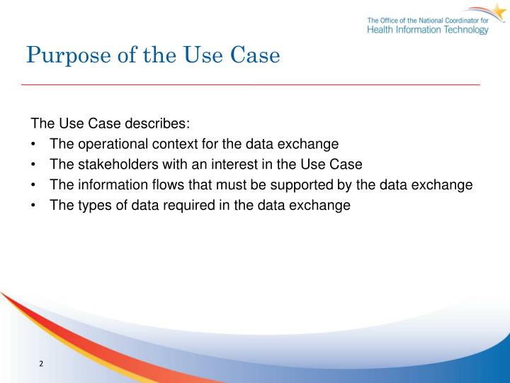 Purpose of the use case