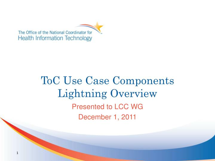Toc use case components lightning overview