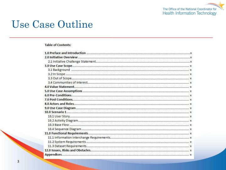 Use case outline