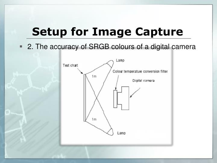 Setup for Image Capture