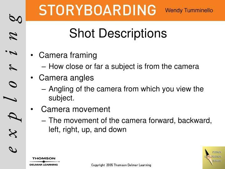 Shot Descriptions