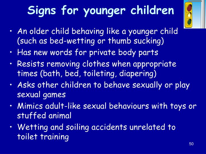Signs for younger children
