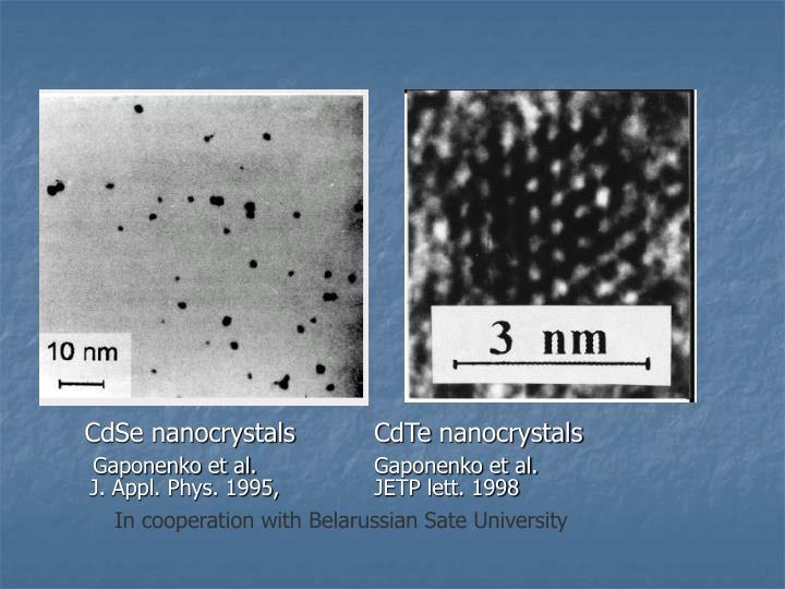CdSe nanocrystals