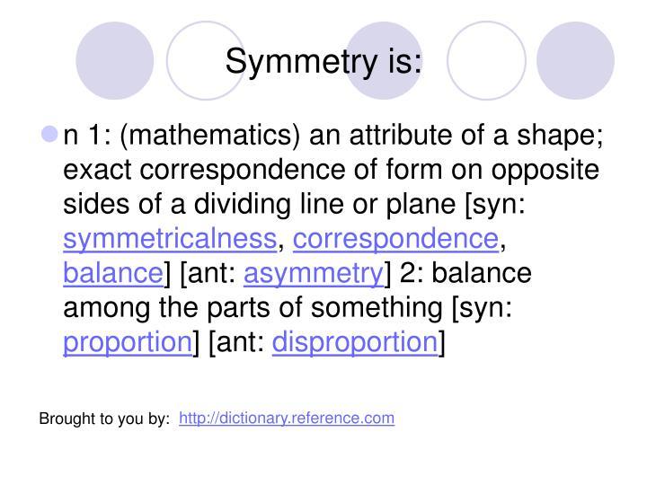 Symmetry is: