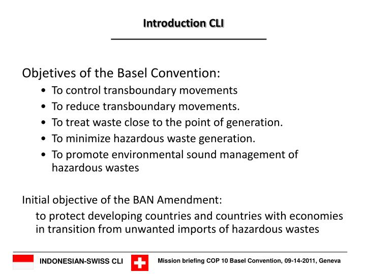 Objetives of the Basel Convention:
