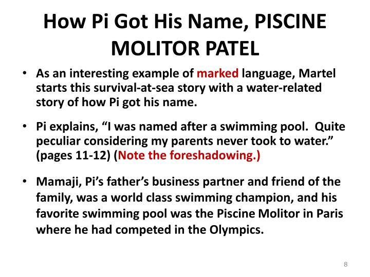 How Pi Got His Name, PISCINE MOLITOR PATEL