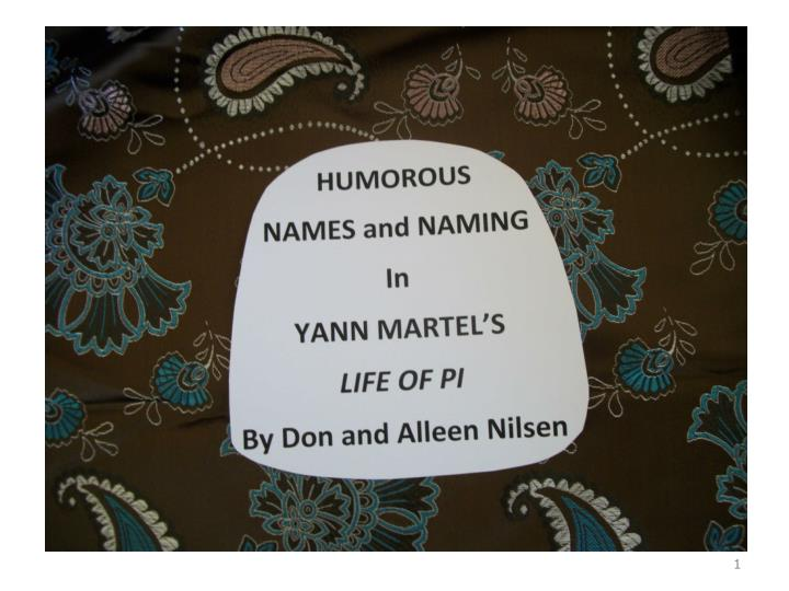 Yann martel published his life of pi in 2001