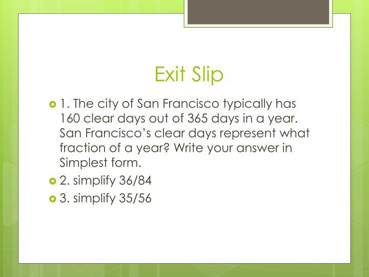 Exit Slip