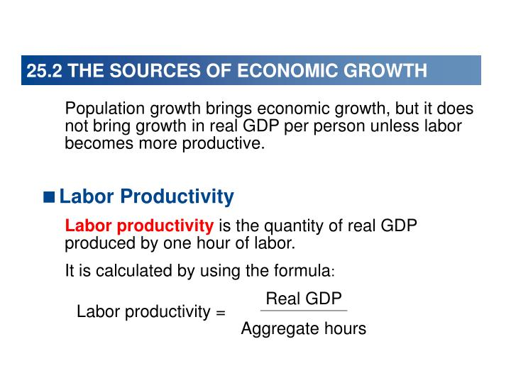25.2 THE SOURCES OF ECONOMIC GROWTH