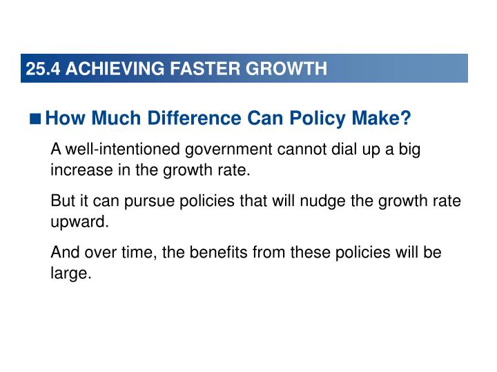 25.4 ACHIEVING FASTER GROWTH