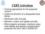 cert activations