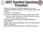 cert standard operating procedure