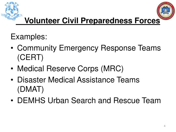 Volunteer Civil Preparedness Forces