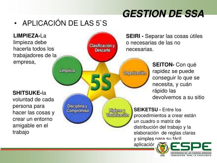 GESTION DE SSA