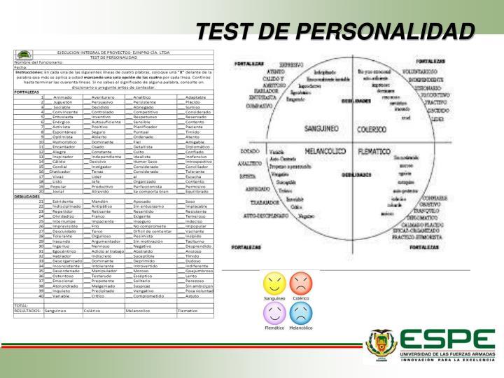 TEST DE PERSONALIDAD