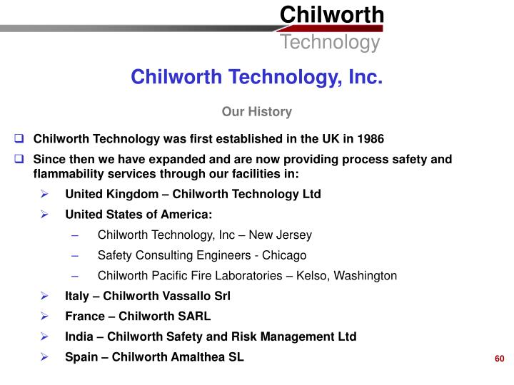 Chilworth Technology, Inc.