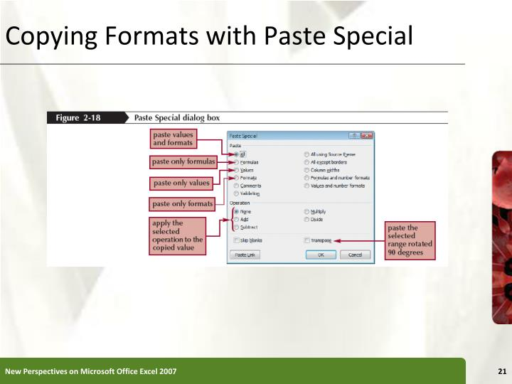 Copying Formats with Paste Special