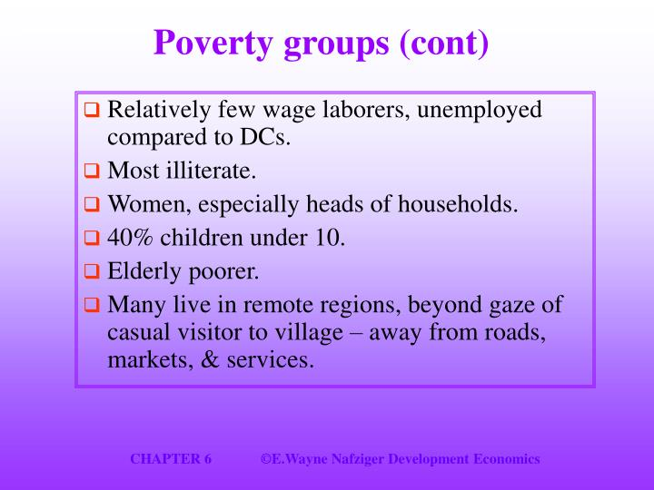Poverty groups (cont)