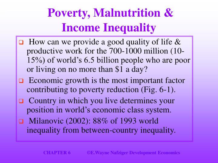 Poverty, Malnutrition &