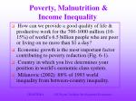 poverty malnutrition income inequality