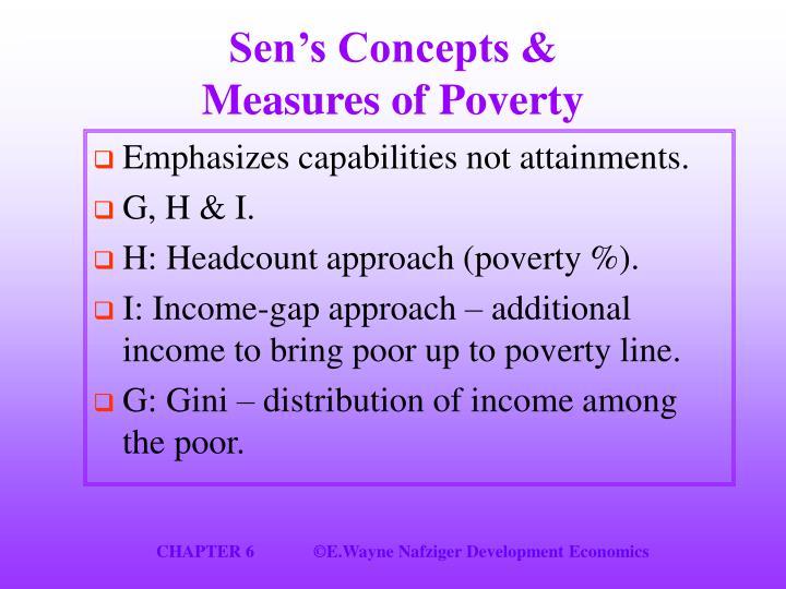 Sen's Concepts &
