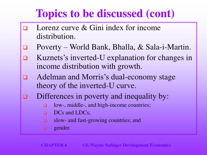 Topics to be discussed (cont)