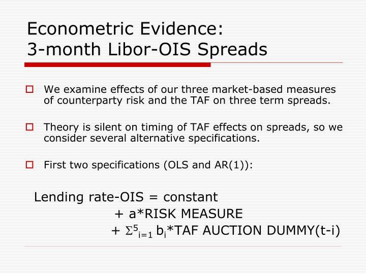 Econometric Evidence: