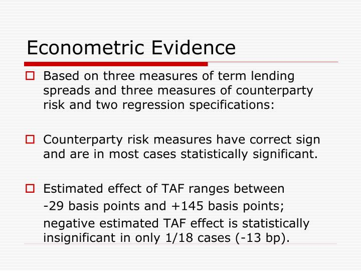 Econometric Evidence