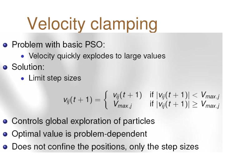 Velocity clamping