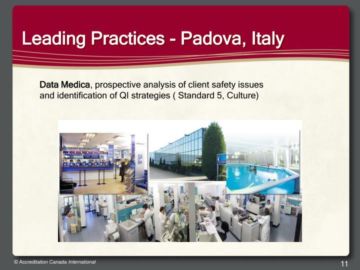 Leading Practices - Padova, Italy